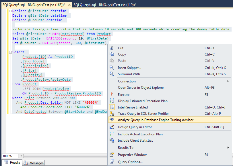 Pic 3 Open option from SSMS Query context menu