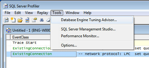 Pic 4 Starting from SQL Server Profiler