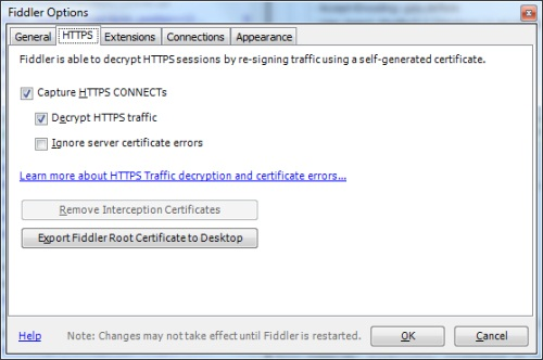Examine All HTTP/HTTPS Traffic on Windows with Fiddler2